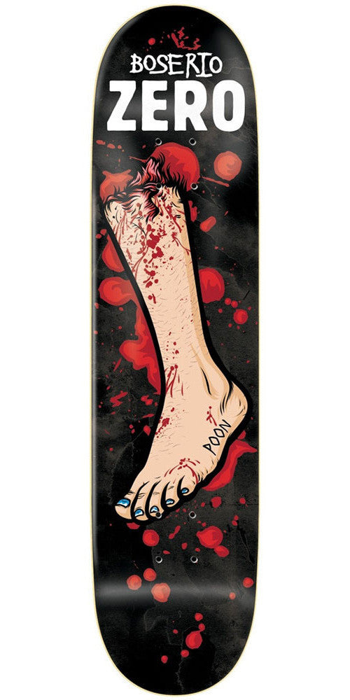 Zero Nick Boserio Severed Ties R7 Skateboard Deck - Black - 8.25in