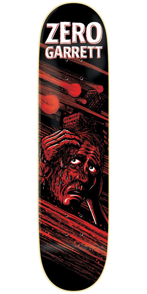 Zero Garrett Hill Apocalypse IL Skateboard Deck - Black/Red - 8.375in