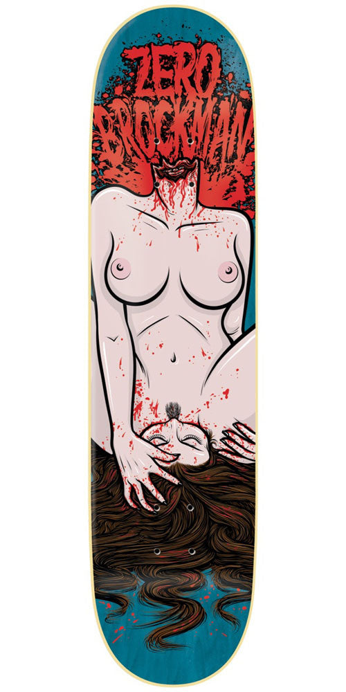 Zero James Brockman Self Gratification R7 Skateboard Deck - Blue - 8.625in