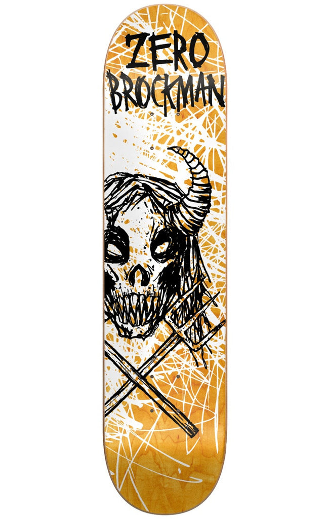 Zero James Brockman Dark Ages Series IL Skateboard Deck - Orange - 8.625in