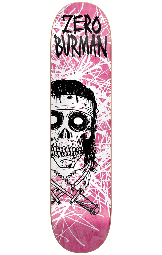 Zero Dane Burman Dark Ages Series IL Skateboard Deck - Pink - 8.5in