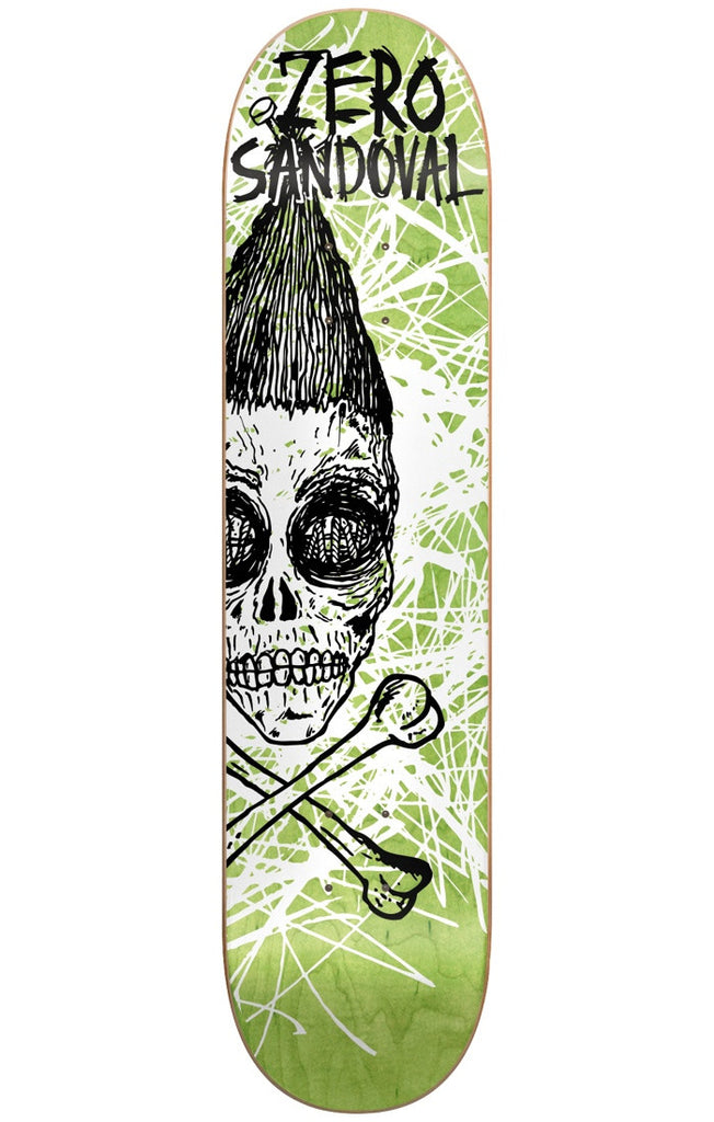 Zero Tommy Sandoval Dark Ages Series IL Skateboard Deck - Green - 8.25in