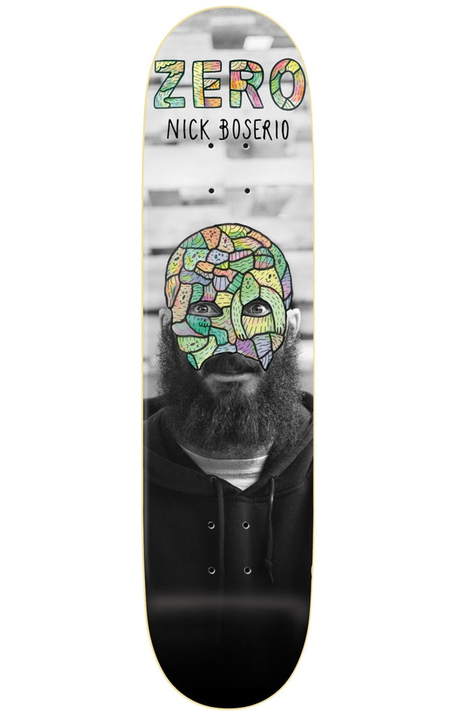 Zero Nick Boserio Re-Portrait R7 Skateboard Deck - Black/White - 8.5in