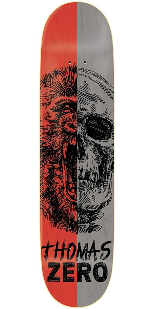 Zero Jamie Thomas Alter Ego R7 Skateboard Deck - Red/Grey - 8.375in