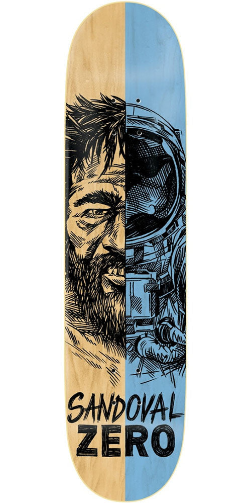 Zero Tommy Sandoval Alter Ego R7 Skateboard Deck - Natural/Blue - 8.25in