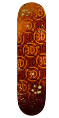 3D Logo Spray Skateboard Deck - Brown - 8.1