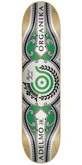 Organika Adelmo Cigars Skateboard Deck - White/Green - 8.06