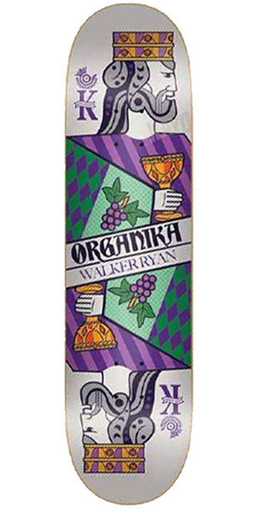 Organika Ryan Suits Skateboard Deck - White/Purple - 8.06