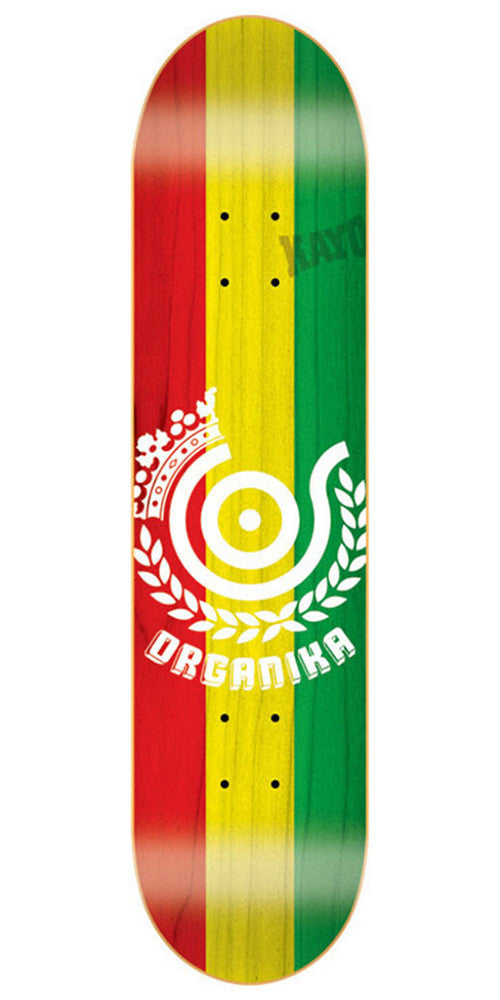 Organika Price Point Skateboard Deck - Red/Yellow/Green - 7.63