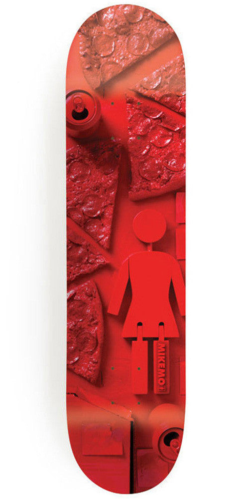 Girl Mike Mo Paint It Black Skateboard Deck - 7.75 Inch - Red