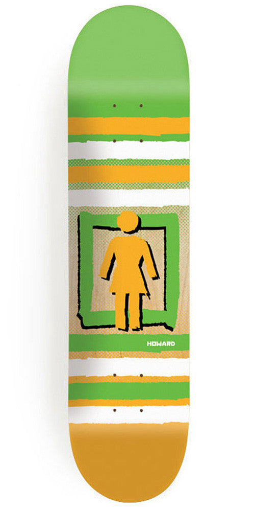 Girl Howard Out Of The Box Pop Secret Skateboard Deck - 8.5 Inch - Green/Orange