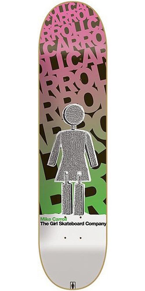 Girl Carroll Blast Off Skateboard Deck - 8.12 Inch - Pink/Green