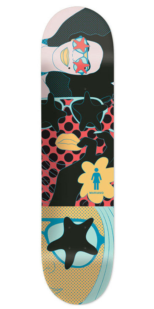 Girl Mariano Starstruck Skateboard Deck - Multi - 8.125in x 31.3in
