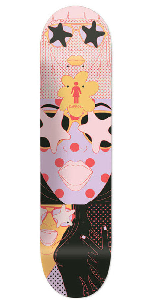 Girl Carroll Starstruck Skateboard Deck - Multi - 8.125in x 31.625in