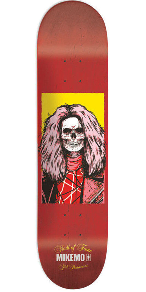 Girl Mike Mo Skull Of Fame Skateboard Deck - Red - 8.0in x 31.875in
