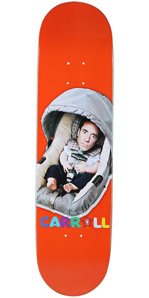Girl Carroll Big Baby Skateboard Deck - Orange - 8.125in x 31.625in