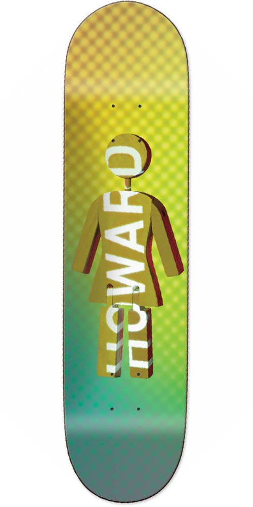 Girl Howard Future Projections Skateboard Deck - Yellow/Green - 8.25in x 31.625in
