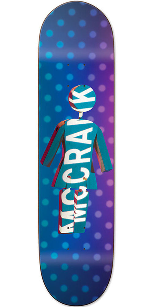 Girl McCrank Future Projections Skateboard Deck - Blue/Purple - 8.375in x 31.75in