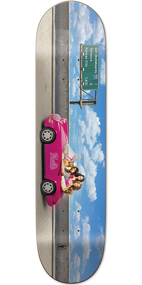 Girl Malto One Off Skateboard Deck - Multi - 8.125in x 31.625in