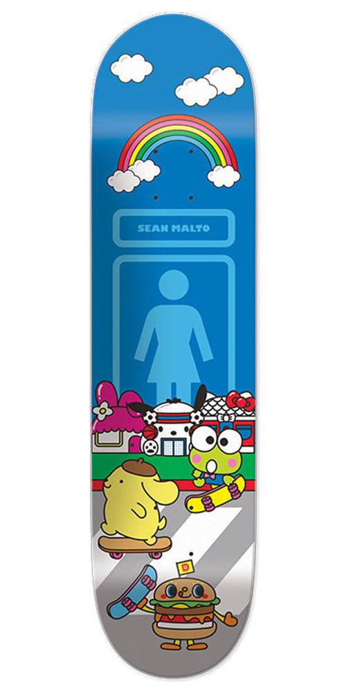 Girl Sean Malto Hello Sanrio Skateboard Deck - Blue - 8.125in x 31.625in