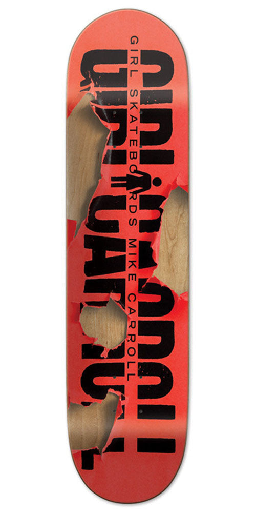 Girl Mike Carroll Tear It Up Skateboard Deck - Red - 8.0in x 31.5in
