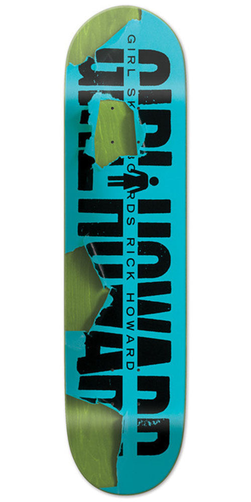 Girl Rick Howard Tear It Up Skateboard Deck - Blue - 8.25in x 31.625in