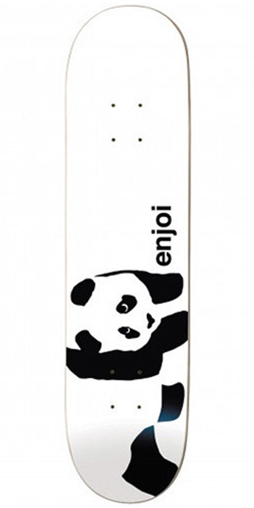 Enjoi Panda Logo Wide R7 Skateboard Deck 8.0 - Whitey