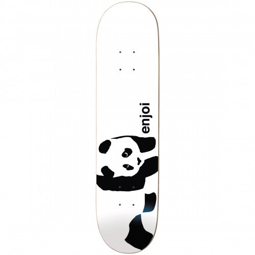 Enjoi Panda Logo Wide R7 Skateboard Deck 8.25 - Whitey