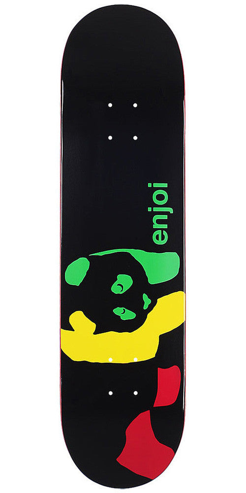 Enjoi Rasta Panda Wide R7 Skateboard Deck 8.1 - Black