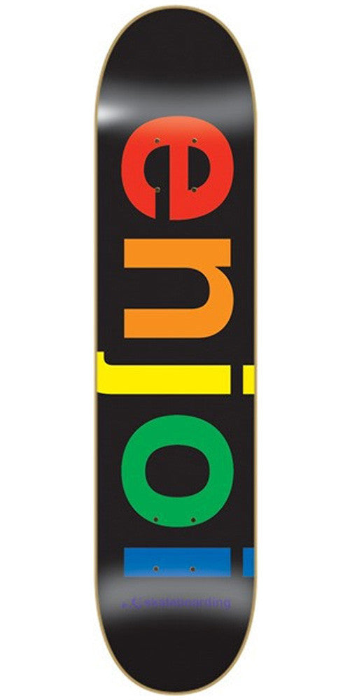 Enjoi Spectrum Skateboard Deck 7.75 - Black