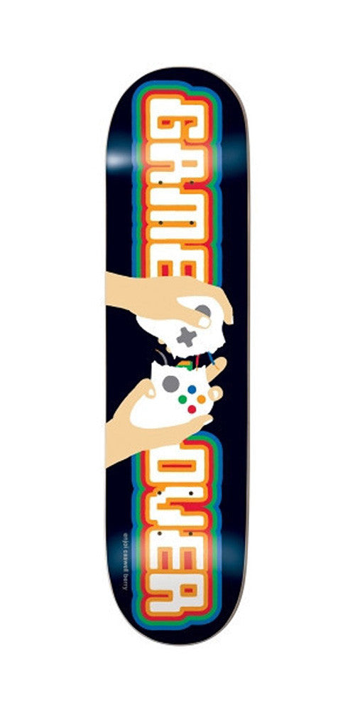 Enjoi Game Over R7 Caswell Skateboard Deck 8.1 - Black/Orange