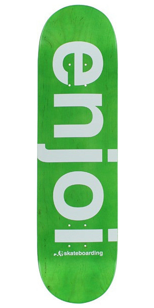 Enjoi Sprayed Spectrum Skateboard Deck - Green - 8.25