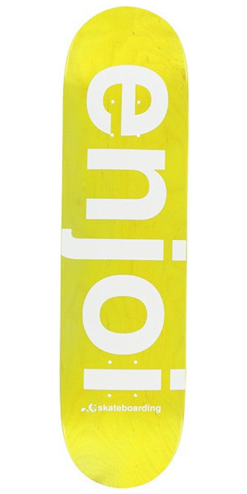 Enjoi Sprayed Spectrum Skateboard Deck - Yellow - 8.0