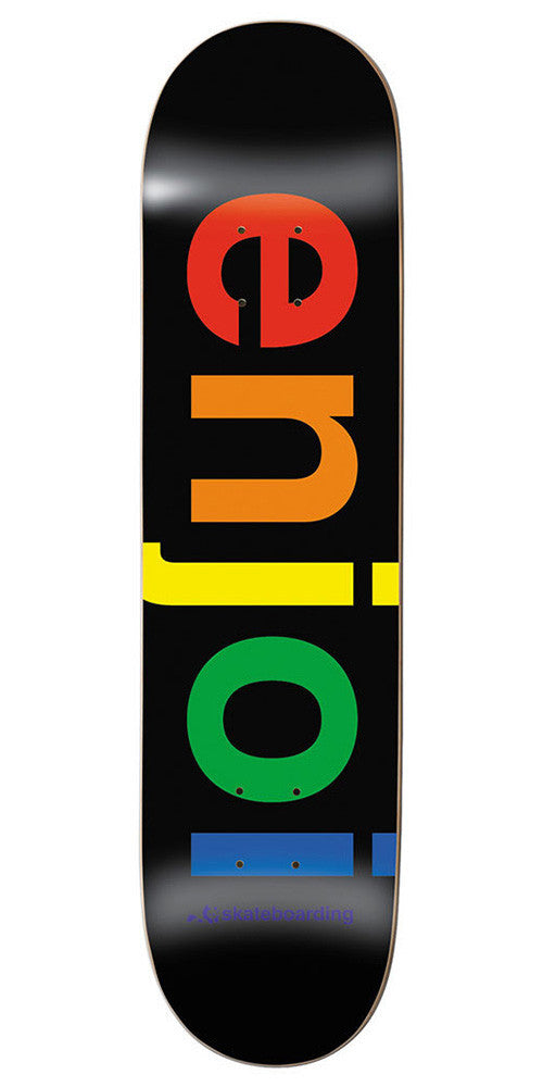 Enjoi Spectrum Skateboard Deck - 8.0 - Black