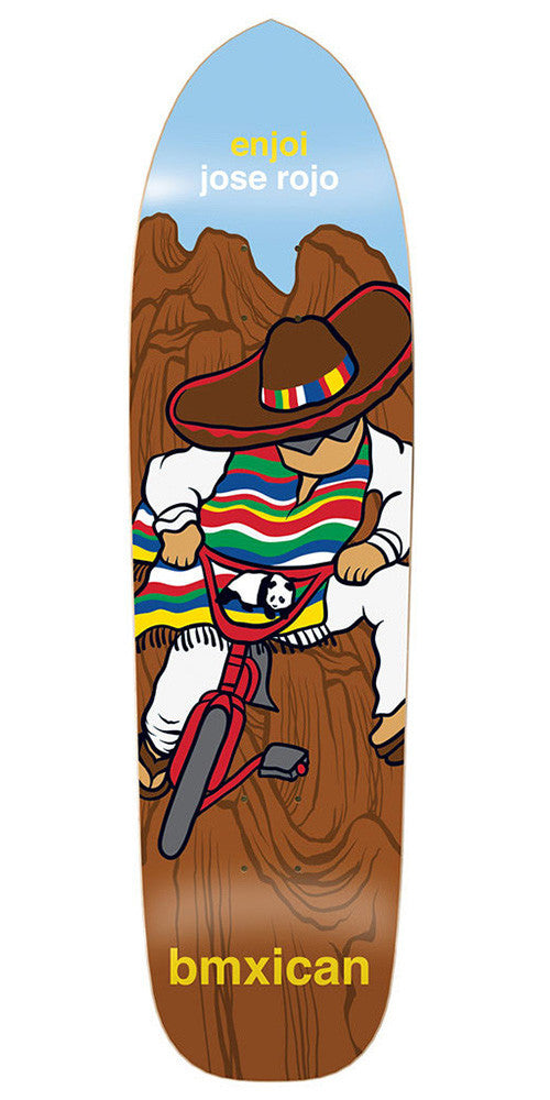 Enjoi Jose Rojo Bmxican R7 Skateboard Deck - 8.5 - Brown