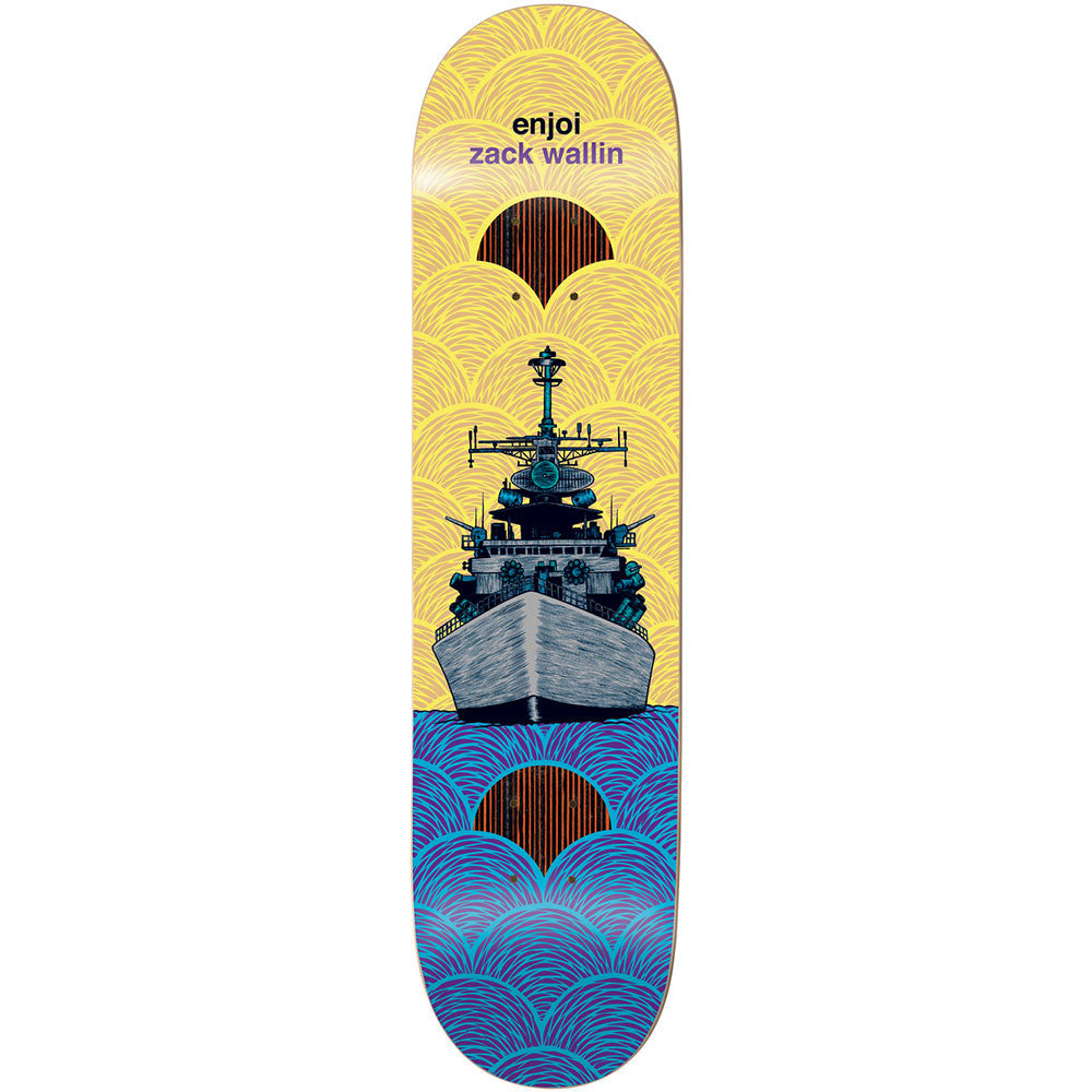 Enjoi Possibly Zack, Maybe Ben Vessels Impact Plus Skateboard Deck - Yellow/Blue - 8.4