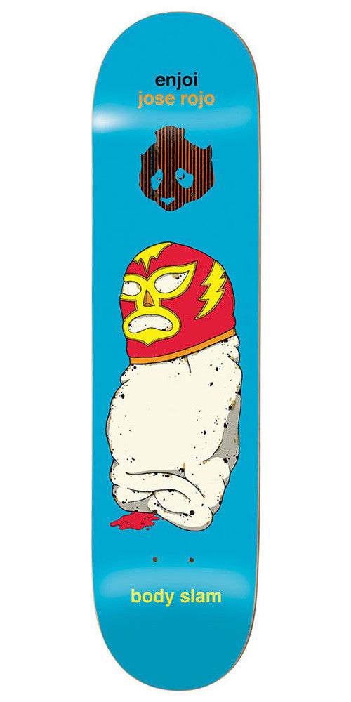 Enjoi Jose Rojo Body Slam Impact Skateboard Deck - Blue - 8.0