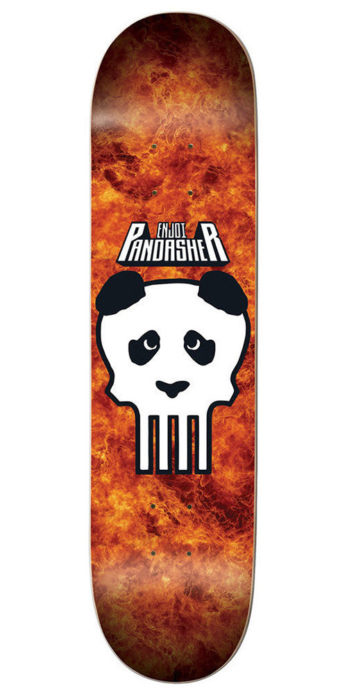 Enjoi Clark Skull R7 Skateboard Deck - Orange/White - 8.25