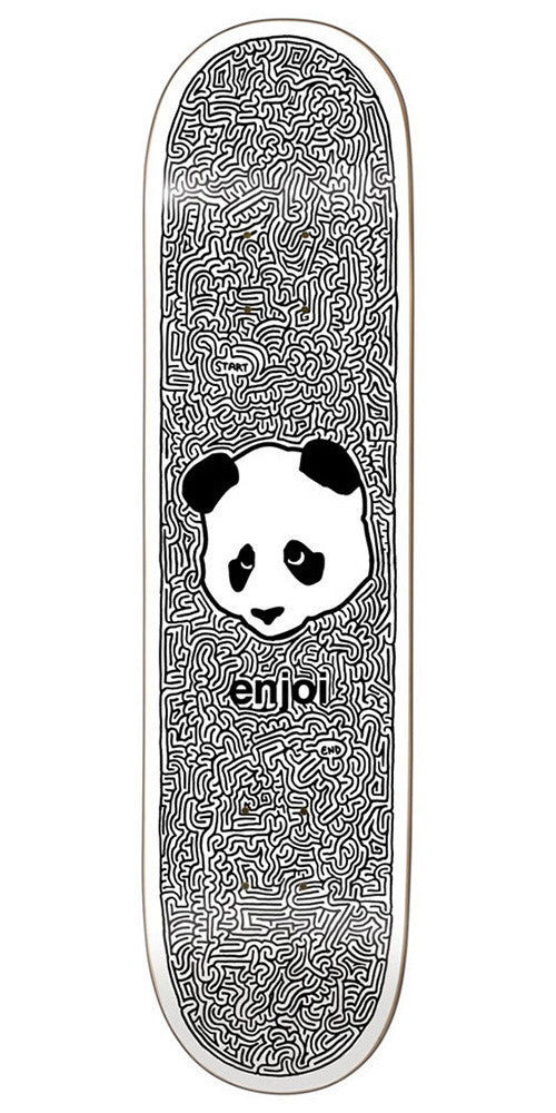 Enjoi Panda Maze R7 Skateboard Deck - White/Black - 8.0in