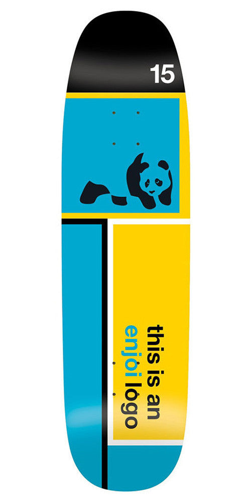 Enjoi Logo R7 Skateboard Deck - Blue/Yellow - 8.5in