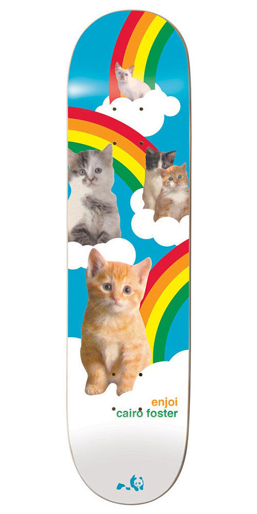 Enjoi Cairo Foster Cat Series R7 Skateboard Deck - Blue/White - 8.125in