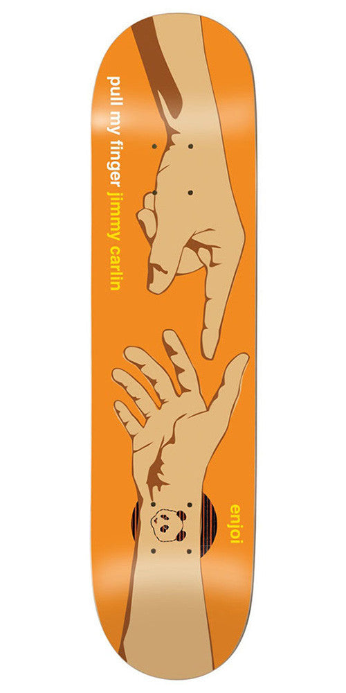 Enjoi Carlin Pull My Finger Impact Plus Skateboard Deck - Orange - 7.75in