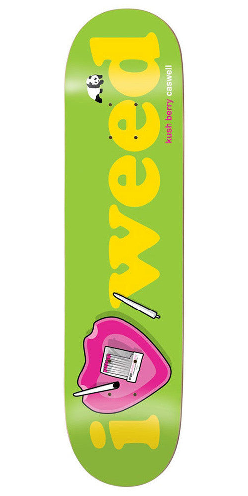 Enjoi Caswell Berry Heart Series R7 Skateboard Deck - Green - 8.5in