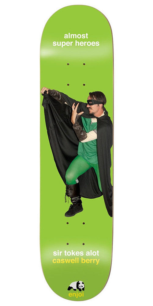 Enjoi Caswell Berry Almost Heroes Impact Light Skateboard Deck - Green - 8.25in