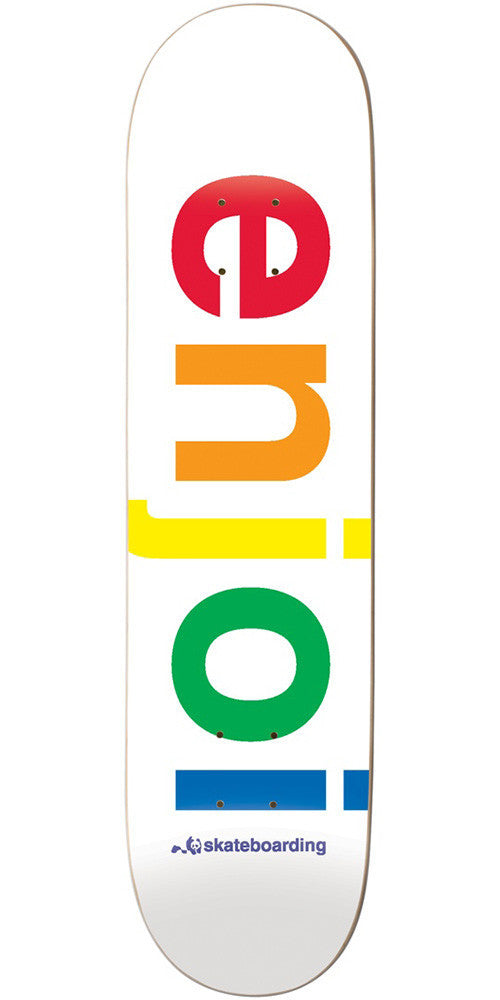 Enjoi Spectrum Skateboard Deck - White - 8.0in