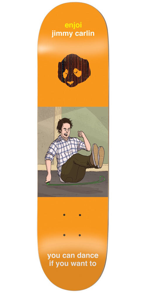 Enjoi Jimmy Carlin Flashback IP Skateboard Deck - Orange - 7.75in