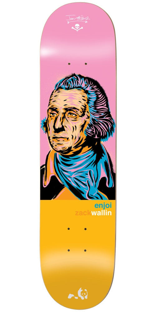 Enjoi Zack Wallin Presidents R7 Skateboard Deck - Pink/Orange - 8.0in