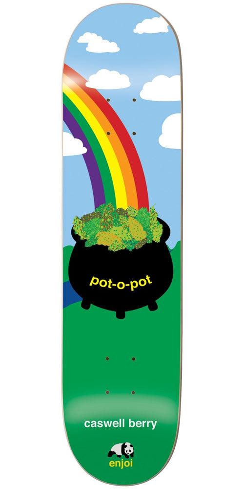Enjoi Caswell Berry Pot-O-Pot R7 Skateboard Deck - Blue/Green - 8.25in