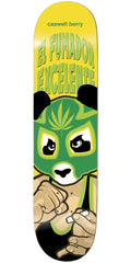 Enjoi Caswell Berry Wrestling Mask IL Skateboard Deck - Yellow - 8.0in