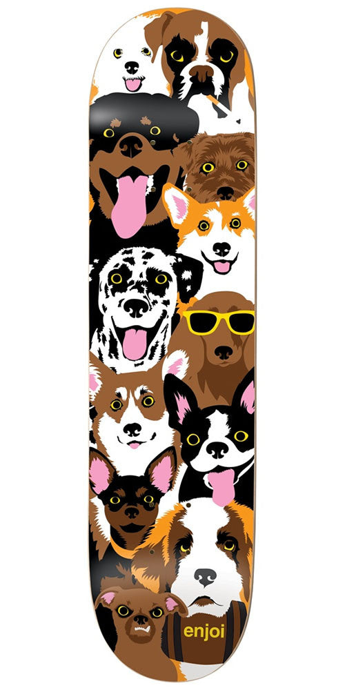 Enjoi Dog Collage R7 Skateboard Deck - Multi - 7.75in